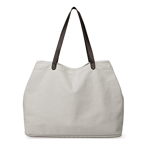 sacs en toile bandoulière les blanc Grands capacité Sac à pour d'épaule Sac riz brun femmes Sacs Sac Le main Mme haute à bandoulière AqwFE75WW