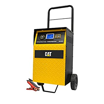 Image of Battery Chargers CAT CBC40EW Fully Automatic 40 Amp 12V Rolling Battery Charger/Maintainer with 110A Engine Start, Alternator Check, Cable Clamps