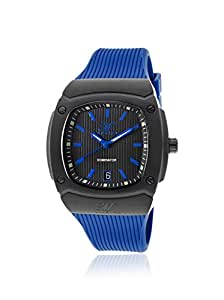 Men's Dominator Black Textured Dial Blue Silicone, Swiss movement