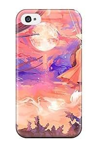 335s6102K185s306603 animal bird fox hornskireromiko moon purplered Anime Pop Culture Hard Plastic iPhone iphone 5s cases