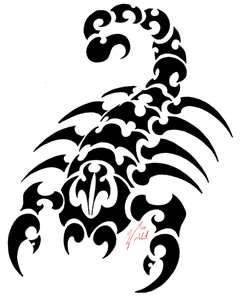 Disenadas tribales del tatuaje escorpion , pegatinas vinilo ...