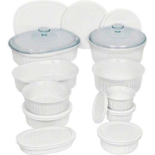 Corningware French 20-Piece Oven-To-Table Bakeware Set, Dishwasher, Refrigerator, Freezer and Microwave Safe, White by CorningWare (Image #3)