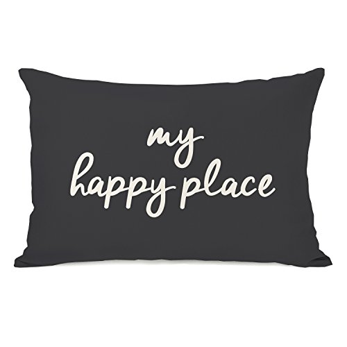 One Bella Casa 14725PL42 My Happy Place Pillow by OBC 14