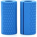 TOOGOO Barbell Dumbbell Grips Silicone Anti-Slip Protect Pad Intensify Forearm Weightlifting Fat Grip 1 Pair