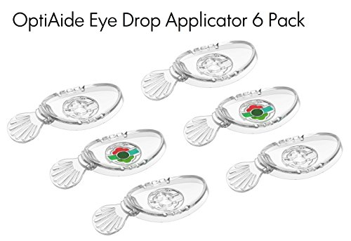 OptiAide 6 Pack - Eye drop applicator - eye drop guide + flush + - Remove Sunglasses To Lenses From How