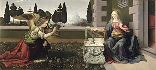 (Leonardo da Vinci Annunciation Uffizi Gallery 30