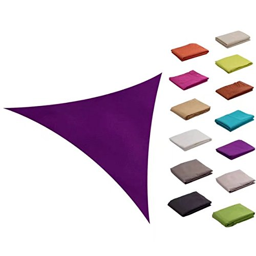 e.share 12ft12ft12ft Purple Sun Shade Sail Outdoor Canopy with Panel