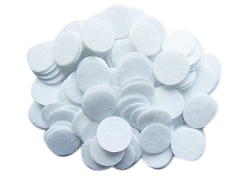YYCRAFT 1 inch White Hard Wool Felt Circles for Craft Project (200pcs 1 inch (25mm))