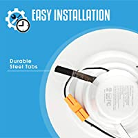 5 // 6 Dimmable LED Downlight Smooth Trim Recessed Retrofit Lighting Trim 12 Pack Energy Star UL Listed Title 24-JA8 2016 Compliant 1100 Lumens 120W Replacement 3000K Warm White 15W