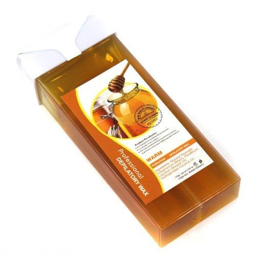 100g Professional Roll-On Refillable Hot Depilatory Heater Wax Waxing Hair Removal Cream , Aloe , Lemon Taste Choose (Honey)