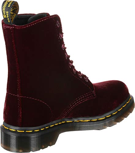 Maroon Martens Boots Red Dr Pascal Ankle Velvet vHn01wq