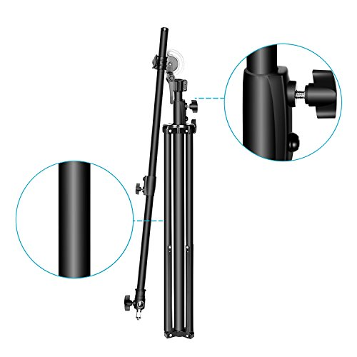 Neewer Photo Studio 2-in-1 Light Stand 48.4-151.5 inches Adjustable Height with 85-inch Boom Arm and Sandbag, Aluminum Alloy, for Supporting Umbrella Softbox Flash for Portrait Video Photography