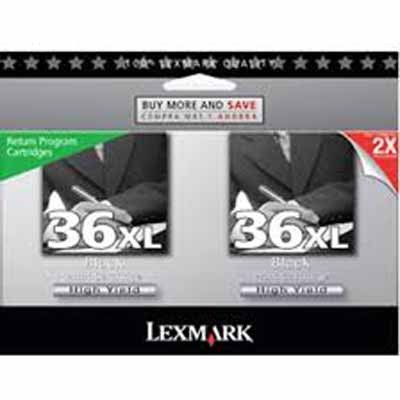 Lexmark Twin-Pack #36XL - Print cartridge - High Yield - 2 x
