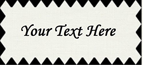 Triangle Border – Cotton Fabric Labels for Handmade Items/Customized Garment Clothing Size Fabric Labels/Personalized Printed Fabric Sew Tag Labels/Quilt, Crochet, Knit, Sewing - Made in USA by Yarn Hookers