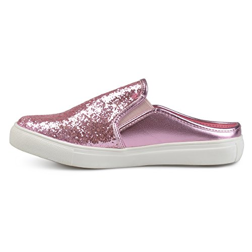 Sneaker Brinley Co Glitter Donna In Ecopelle Rosa