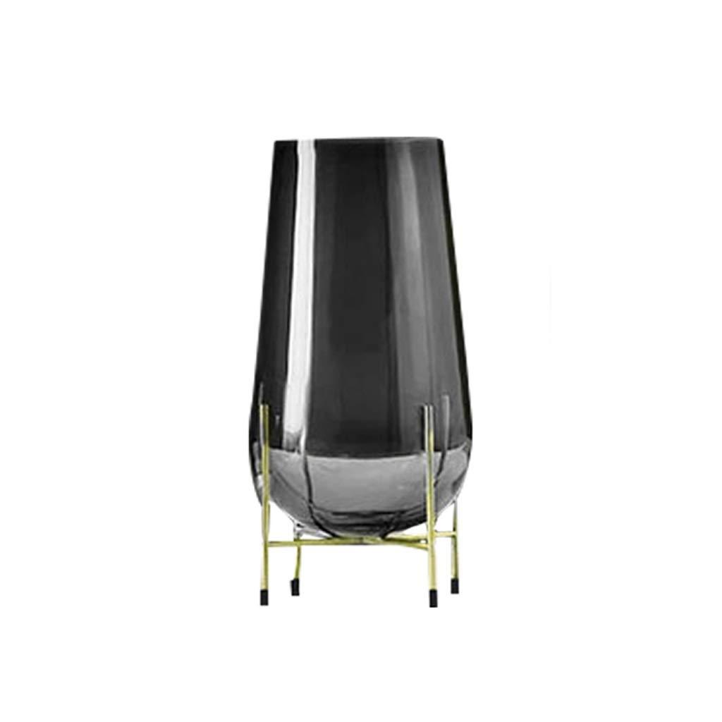 LIULIJUN ガラス花瓶金属フレーム花柄装飾モデルルームリビングルーム装飾 B07T7V2KJT