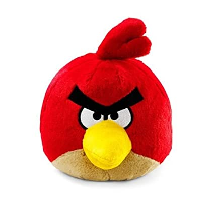 Amazon Com Angry Birds Plush 8 Inch Red Bird With Sound Toys Games