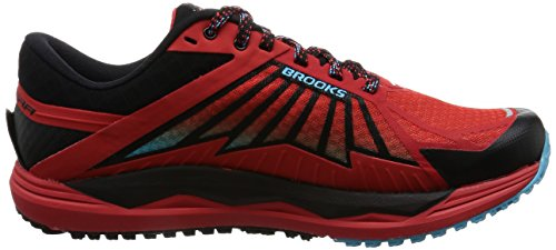 Brooks Caldera, Zapatos para Correr para Hombre Multicolor (Highriskred/black/aquarius)