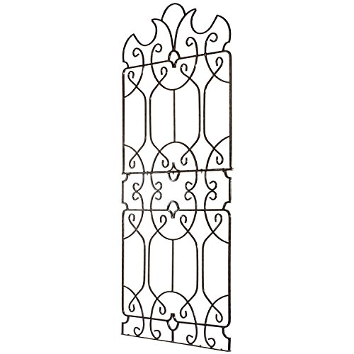 H Potter Wrought Iron Large Metal Ornamental Trellis - Weather Resistant- Yard Art - Wall Art -