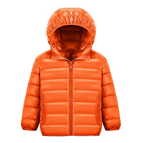 Jitong Boys Long Sleeve Ultra Lightweight Down Jacket Girls Quilted Down Coat Packable Hooded Coat