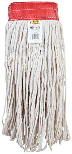 Bristles 3032 Cut End Wet Mop Head Replacement, Cotton, Pack of 12 (#32, White)
