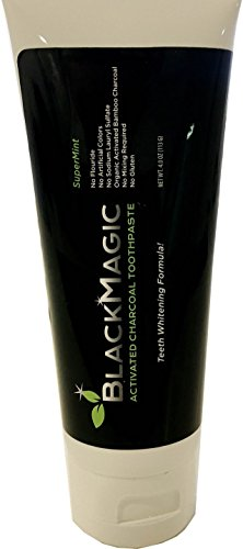 BlackMagic Activated Charcoal & Organic Coconut Oil Teeth WHITENING Toothpaste with Carbon Coco, Made in USA,...