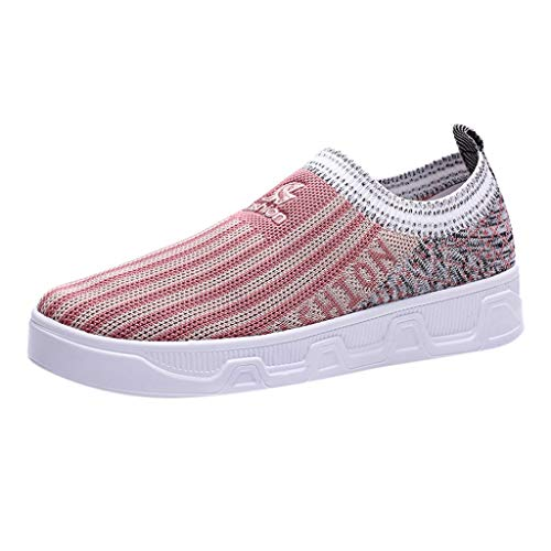 Respctful✿ Slip On Breathe Mesh Walking Shoes Women Fashion Sneakers Comfort Wedge Platform Loafers