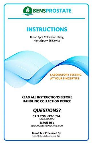 Advanced Prostate-Specific Antigen (PSA) Prostate Health - Home Blood Spot Test Kit - Includes Pre-Paid Sample Return Label