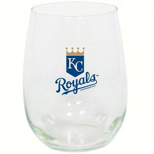 カンザスシティロイヤルズ15オンスStemlessワインガラス B072XC446K 18200