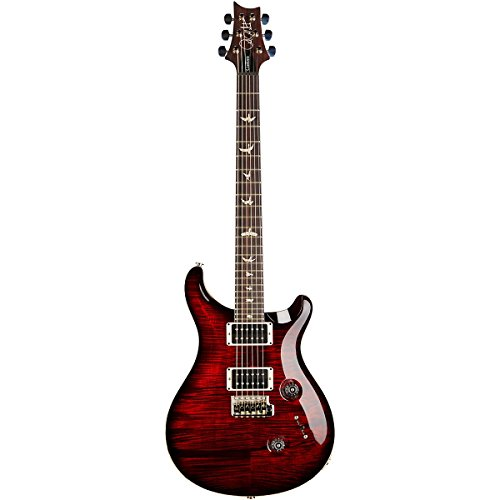 PRS Custom 24 Flame 10 Top Electric Guitar with Pattern/Thin Neck Fire Red Burst