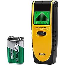 URCERI Stud Finder Wall Scanner 3-in 1 Metal AC Wires Wood Detector with Backlit LCD Screen Display and Beeping Sound Alert
