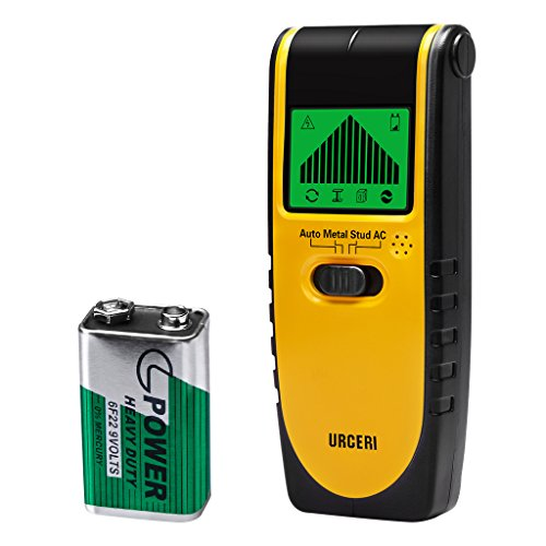 - URCERI Stud Finder Wall Scanner 3-in 1 Metal AC Wires Wood Detector with Backlit LCD Screen Display and Beeping Sound Alert