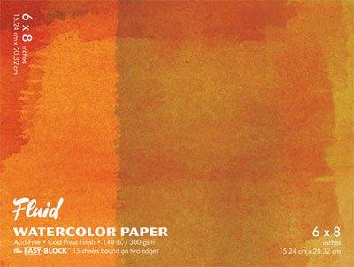 Global Art Fluid Watercolor Blocks 6 in. x 8 in. - Block Watercolor