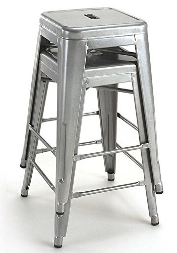 Amazon Com Tabouret 24 Inch Metal Counter Stools Set Of 2 By