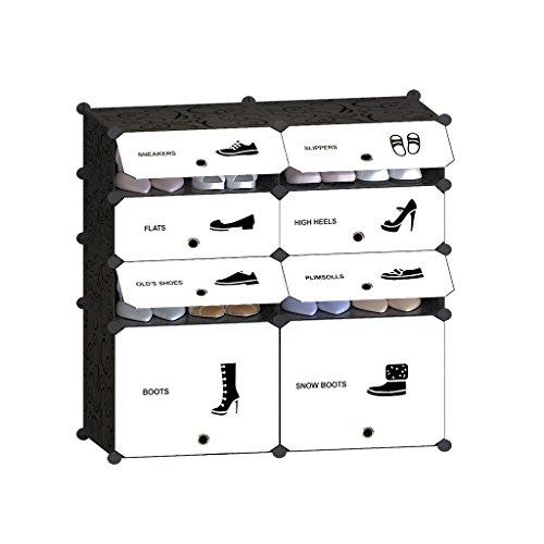 Tespo 8-Cube DIY Shoe Rack, Multi Use Modular Organizer S...