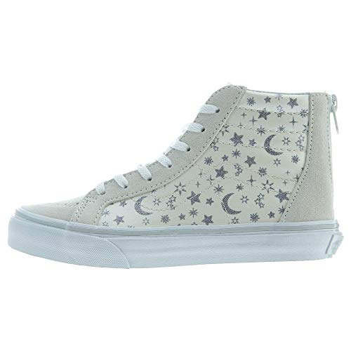 Vans Kids Sk8-Hi Zip (Checkerboard) Skate Shoe White 2.5 M US Little Kid