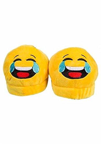 Emoji-Hausschuhe - Laughing Gelb