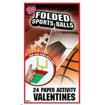 Sports Balls Paper Activity Valentine's Day Cards Party Accessory ()