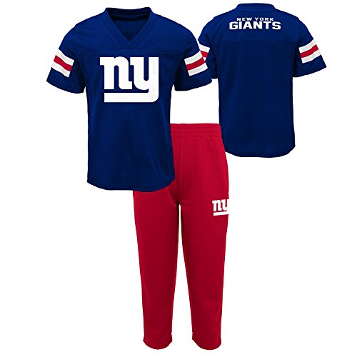 Outerstuff NFL NFL New York Giants Infant Training Camp Short Sleeve Top & Pant Set Dark Royal, 24 Months - Giants Jersey Ny Football