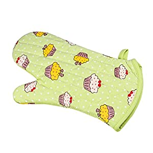 Baoblaze Kitchen Heat Resistant Microwave Oven Mitts Oven Gloves For Cooking - Green, 33cm x 18cm