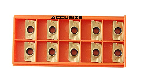 Accusize Tools - 10 Pcs/Box Carbide Inserts APKT1604 TiN Coated, 0056-1604x10 ()