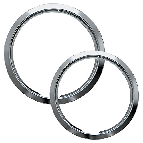 Electric Hinged Drip Pans - Range Kleen R68U Style E Chrome Heavy-Duty Trim Rings, Set of 2
