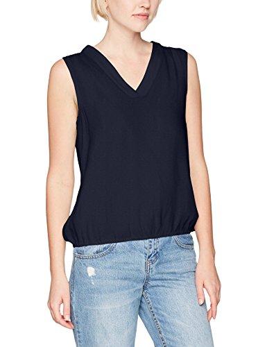 VERO MODA Vmana Dotti S/l Midi Top, Camiseta sin Mangas para Mujer, Multicolor (Navy Blazer), 34 (Talla del Fabricante: X-Small)