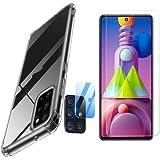 Película de vidro para Samsung M51 + película de câmera nano + Capa Case Capinha Anti Impacto shok - (C7COMPANY)