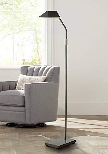 Modern Pharmacy Floor Lamp Dark Bronze Metal Adjustable Shade Halogen Bulb for Living Room Reading Office - Possini Euro Design
