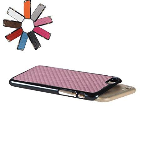 Bralexx 7123Schwarz-7121Rosa-Carbon Smartphone Case passend für Apple iPhone 6 11,9 cm (4,7 Zoll) schwarz/rosa