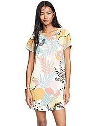 Women's Citrus Print Tee Dress