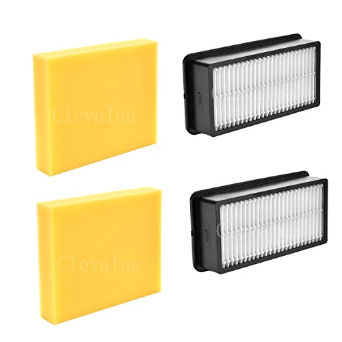 Clevalue Replacement for Bissell Style 1008 Filter Pack for CleanView Upright Vacuums-2pack (Upright Lightweight Replacement)
