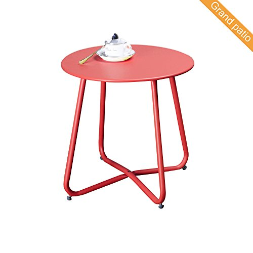Cheap  Grand patio Steel Patio Coffee Table, Weather Resistant Outdoor Side Table, Small..