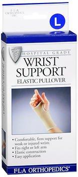 - Fla Orthopedics Elastic Pullover Wrist Support, L - 1 ea, Pack of 2